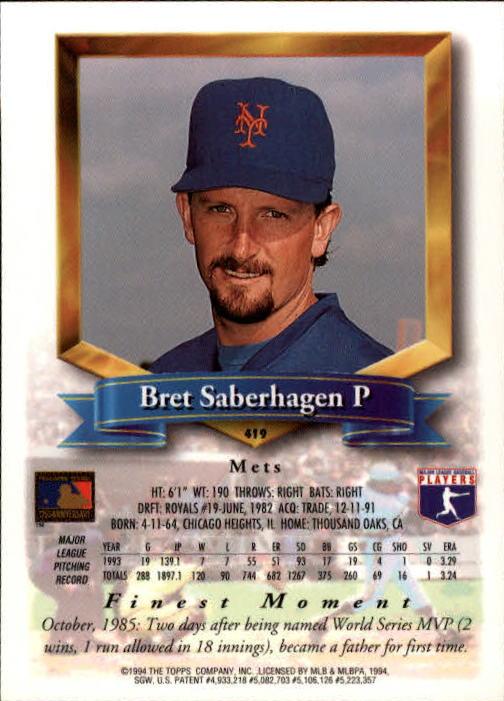 1994-Mejores-Beisbol-Tarjeta-Recoger miniatura 295