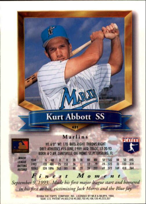 1994-Mejores-Beisbol-Tarjeta-Recoger miniatura 309
