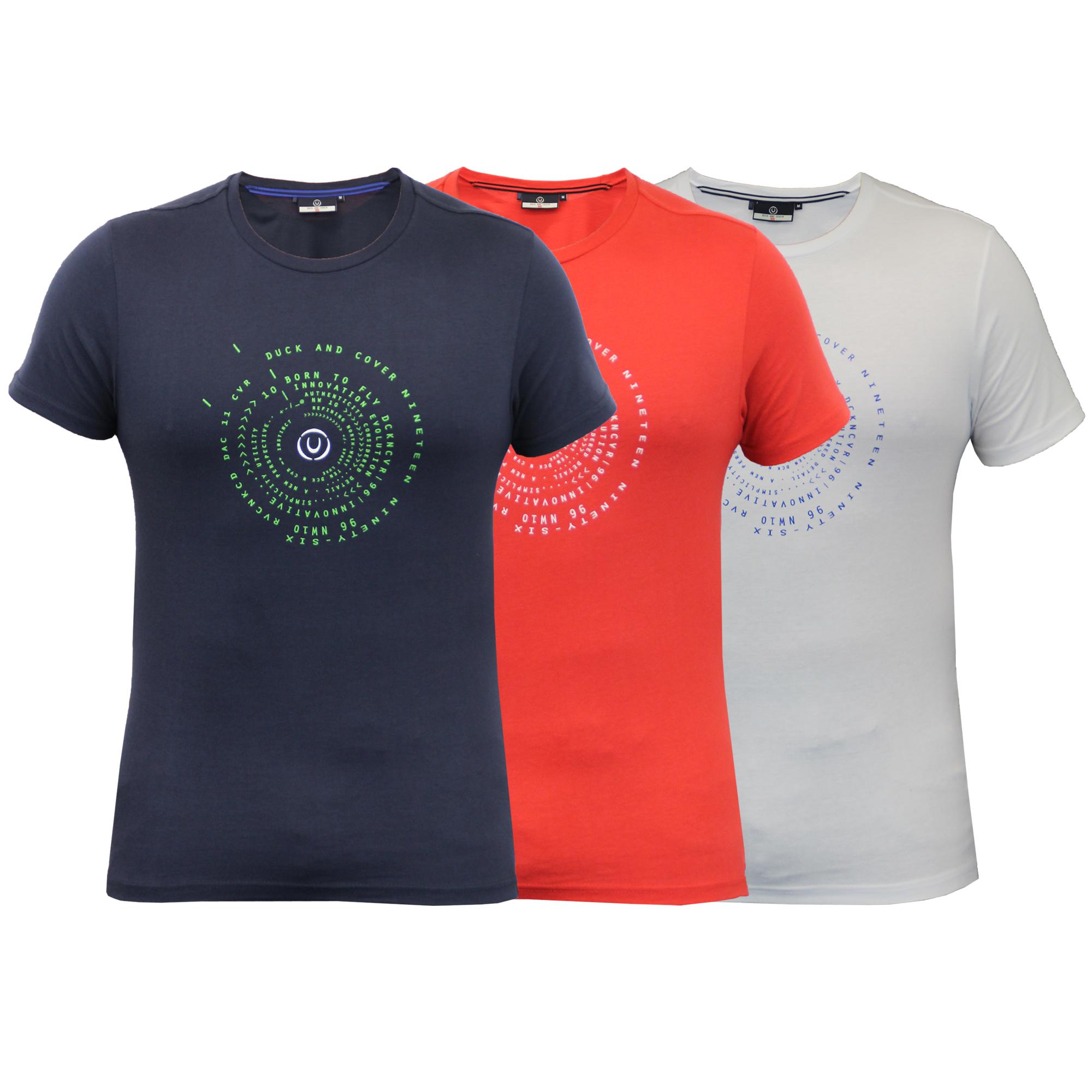 Camiseta-Hombre-DUCK-AND-COVER-manga-corta-de-Algodon-Cuello-Redondo-Casual