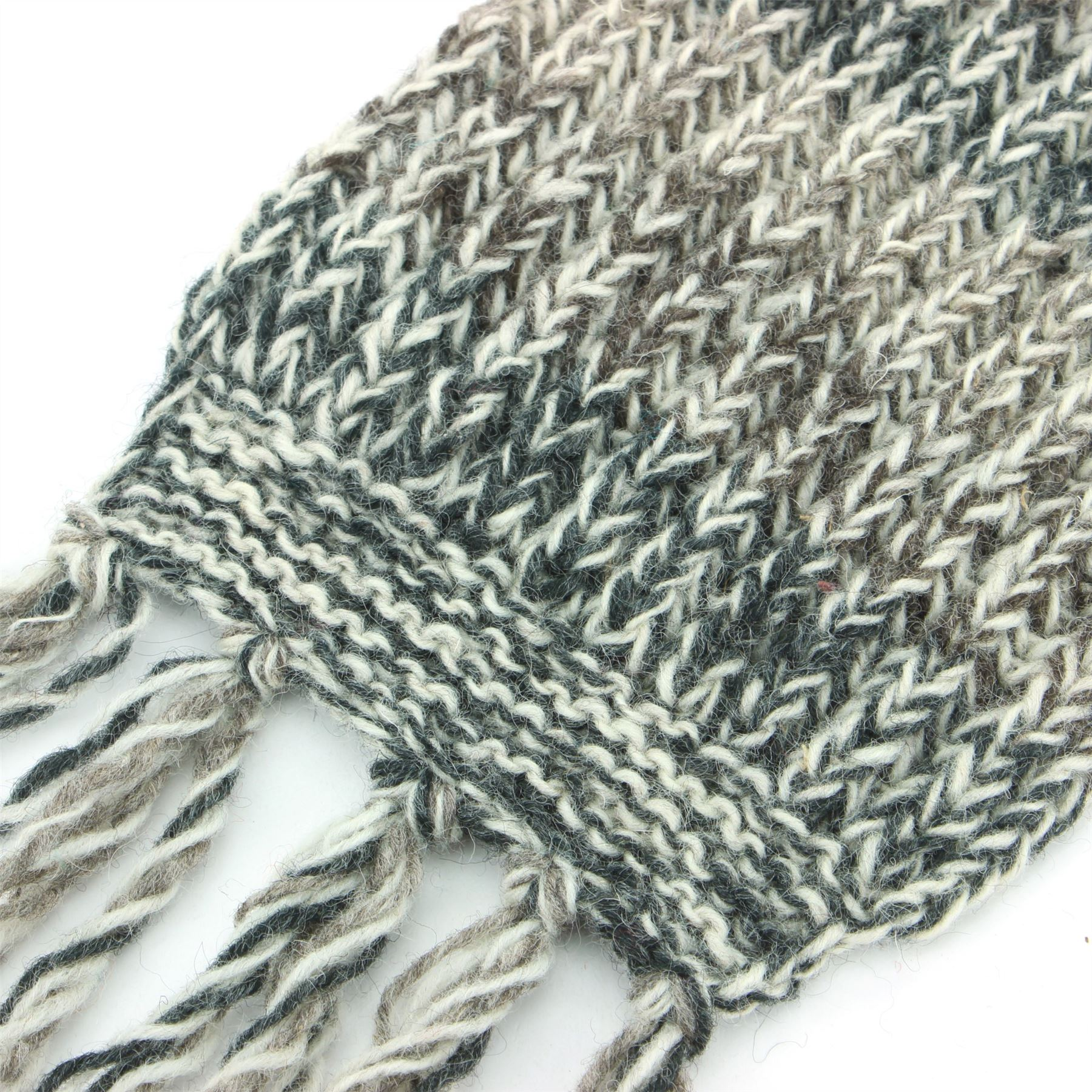 28d3e6f8c3 Dettagli su sciarpa di lana a maglia doppia nappe Lungo Lavorato caldo  ASTRATTO variopinto