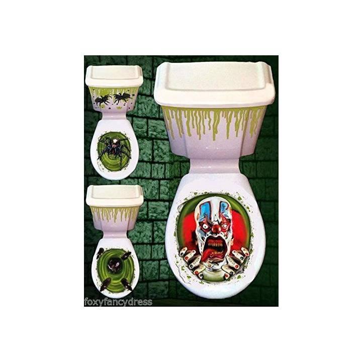 halloween macabre salle de bain si ge de toilette sans couvercle citerne cache ebay. Black Bedroom Furniture Sets. Home Design Ideas