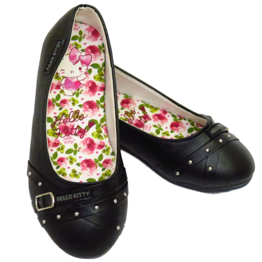 Black Flat Slip On Shoes