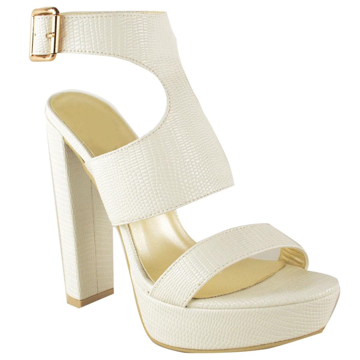 neu womens damen high heels plattform keilabsatz kn chel. Black Bedroom Furniture Sets. Home Design Ideas