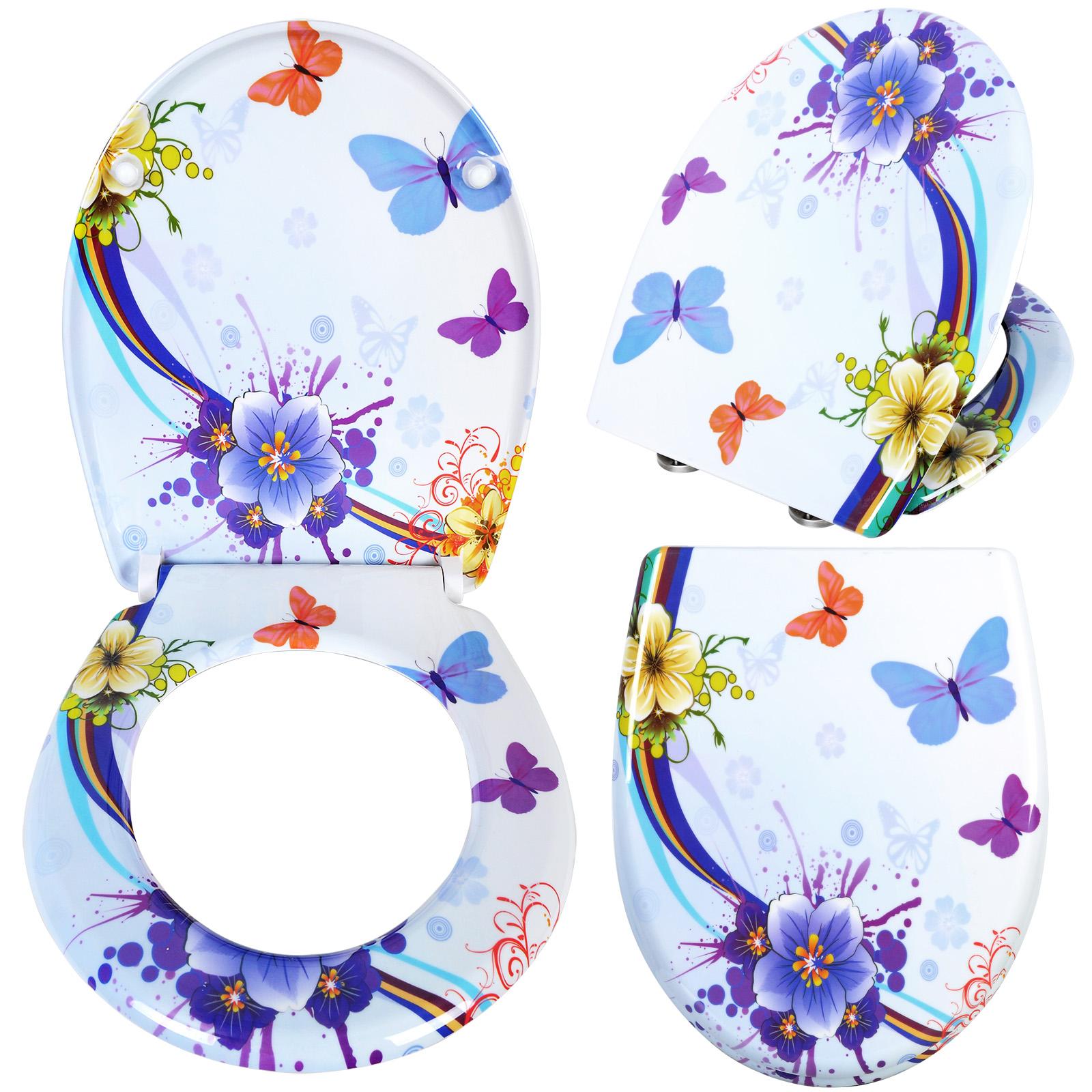 Couvercle de toilette lunette wc duroplast avec douce multicolore 99 - Couvercle de toilette ...