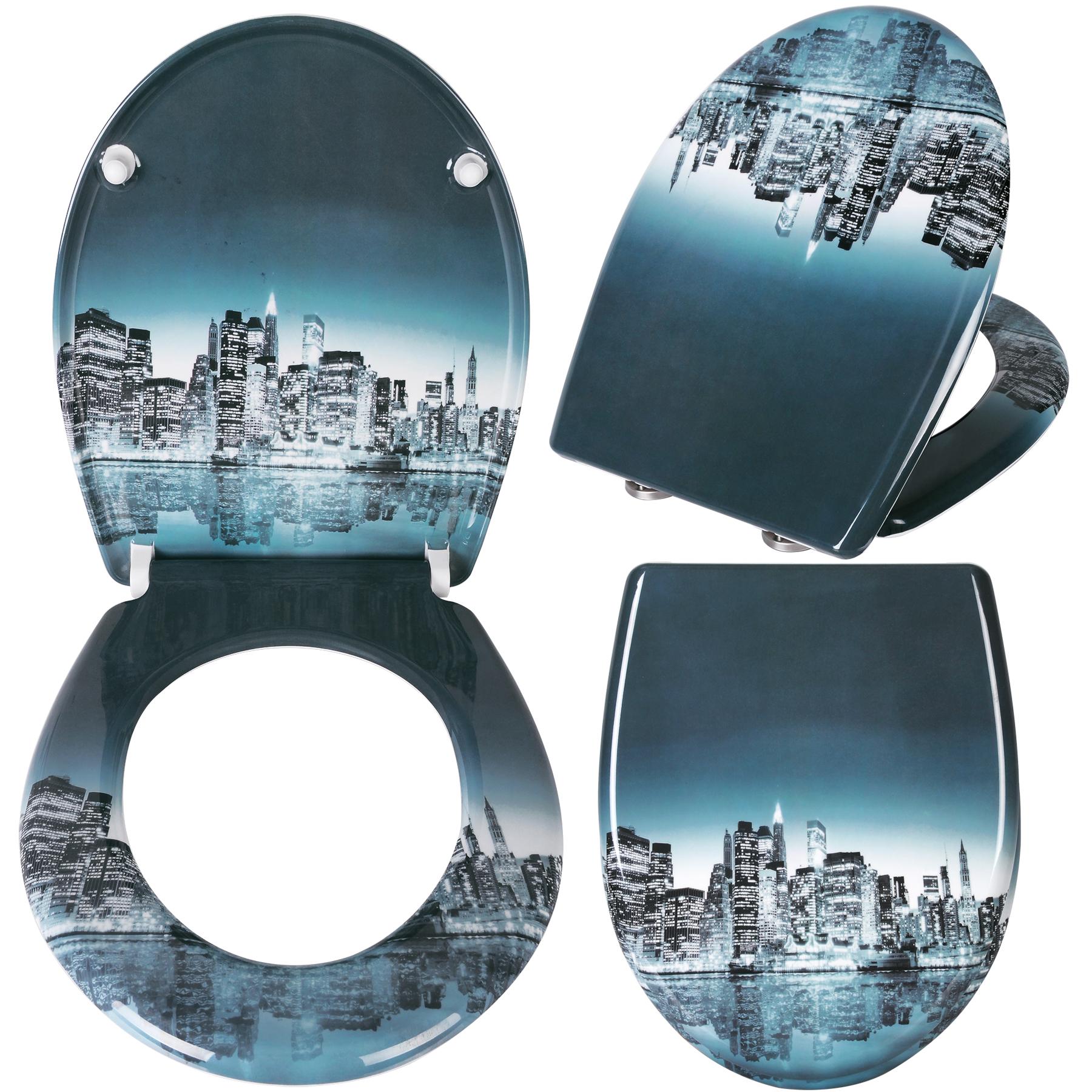 couvercle de toilette lunette wc duroplast avec douce multicolore 99 ebay. Black Bedroom Furniture Sets. Home Design Ideas
