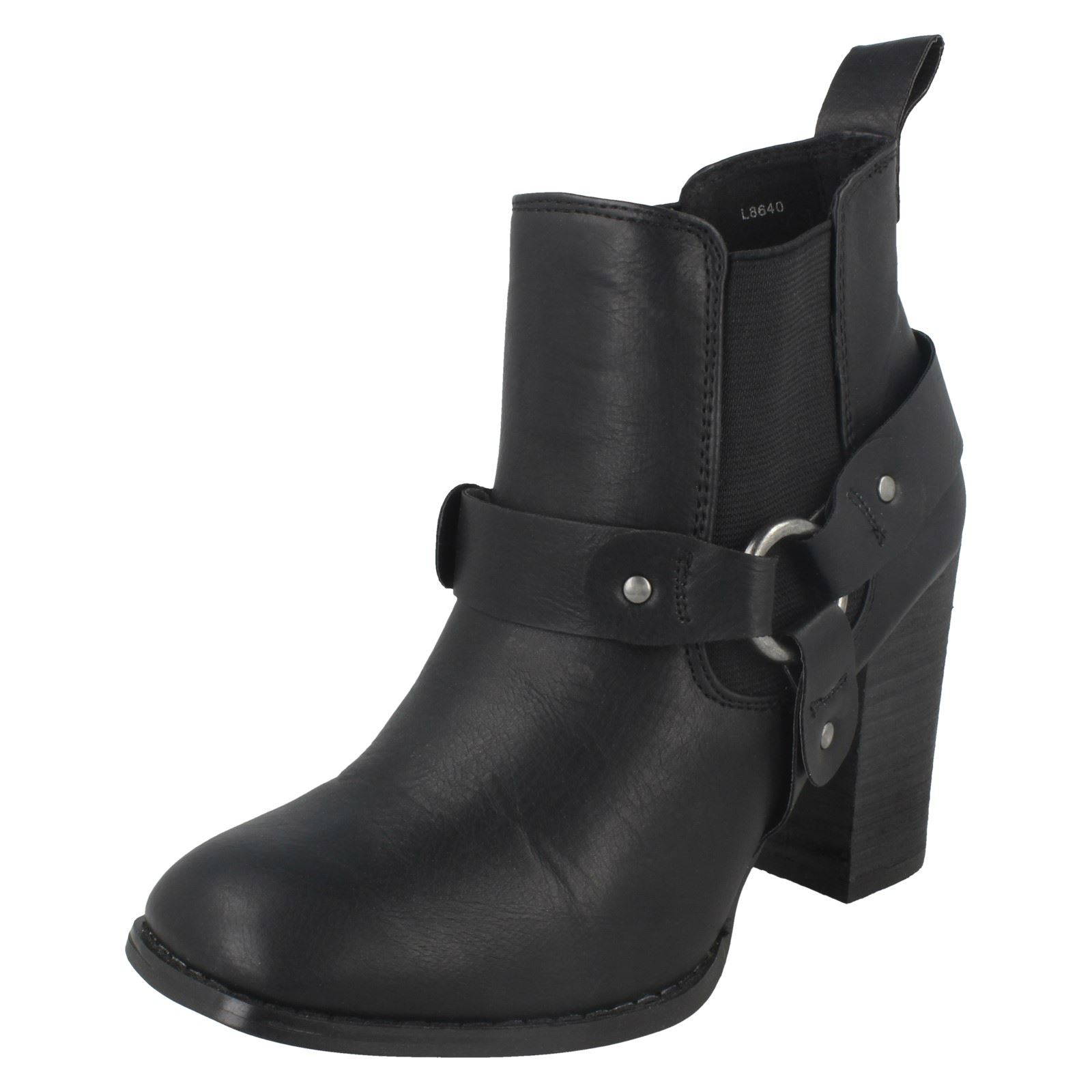 1a5ebd4d68c7 Ladies Anne Michelle Ankle BOOTS With Elasticated Gusset Black 5 Standard.  About this product. Picture 1 of 10  Picture 2 of 10 ...