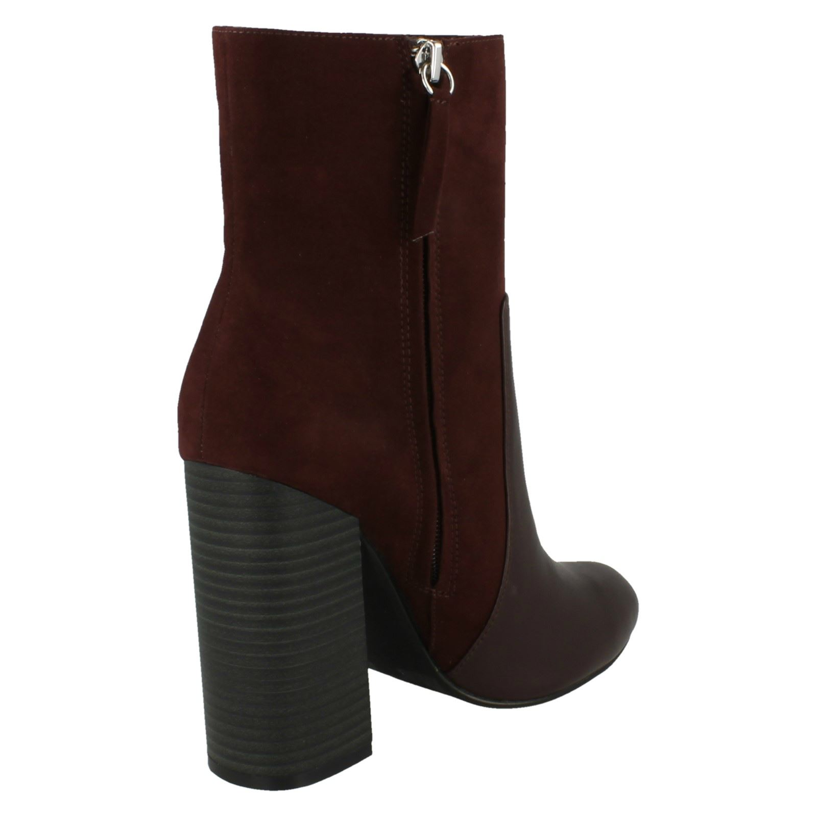 Ladies SALE Anne Michelle F50373 Microfibre Synthetic High Heel Ankle Boots