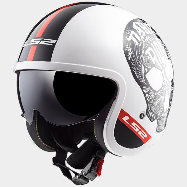 LS2-OF599-Spitfire-Motorcycle-Abrir-Placa-Frontal-Urbano-Escuter-Helmet