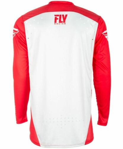 Fly-Racing-2018-Light-Idrogeno-Adulti-Motocross-MTB-Jersey-Rosso-Grigio miniatura 11