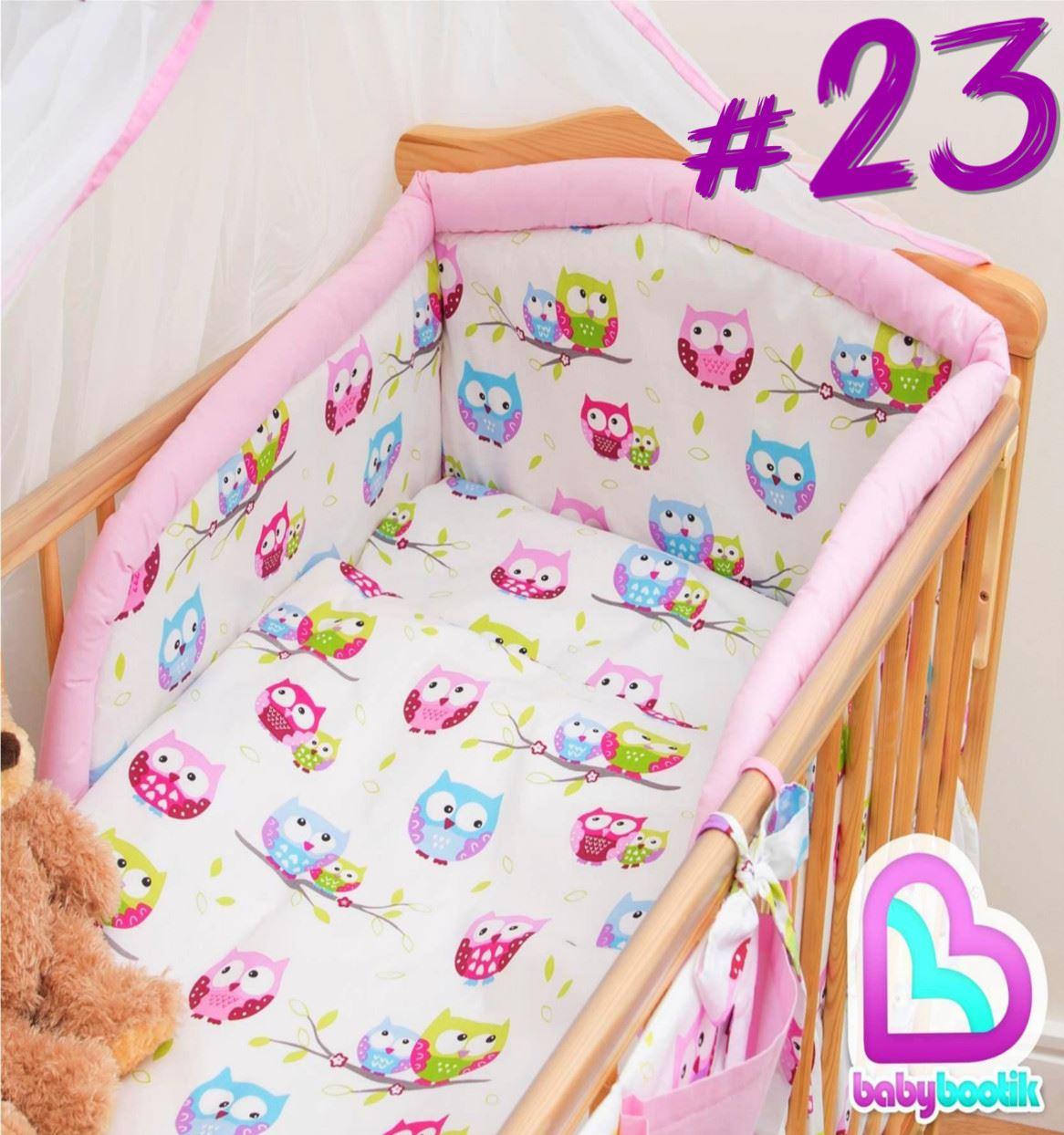 6 st ck bettw sche set baby kinderbett kinderzimmer sicherheit nestchen ebay. Black Bedroom Furniture Sets. Home Design Ideas