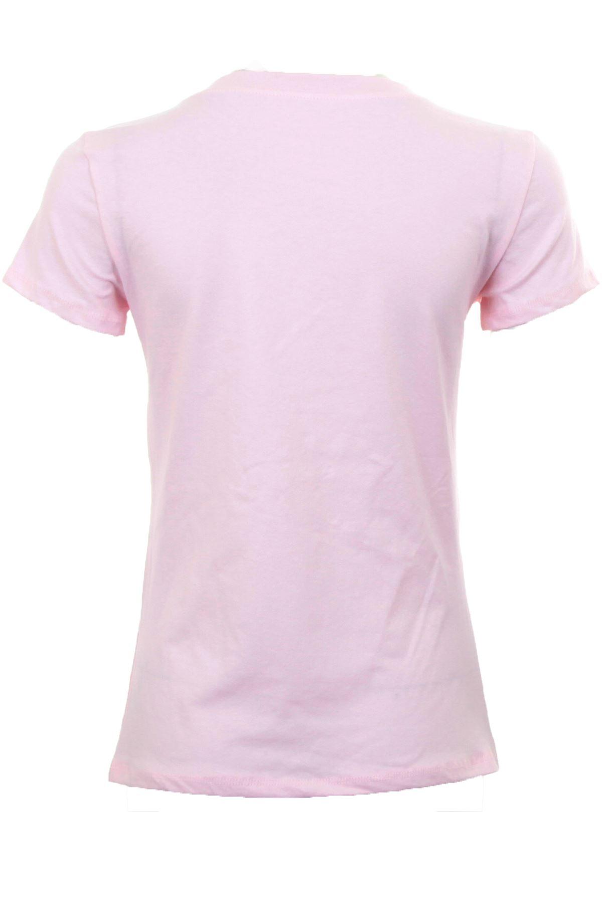 donna-perline-Nappa-Manica-Corta-Top-con-stampa-grafica-maglietta-t-shirt