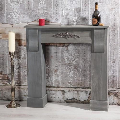deco chimney fake fireplace console mantel trim ebay. Black Bedroom Furniture Sets. Home Design Ideas
