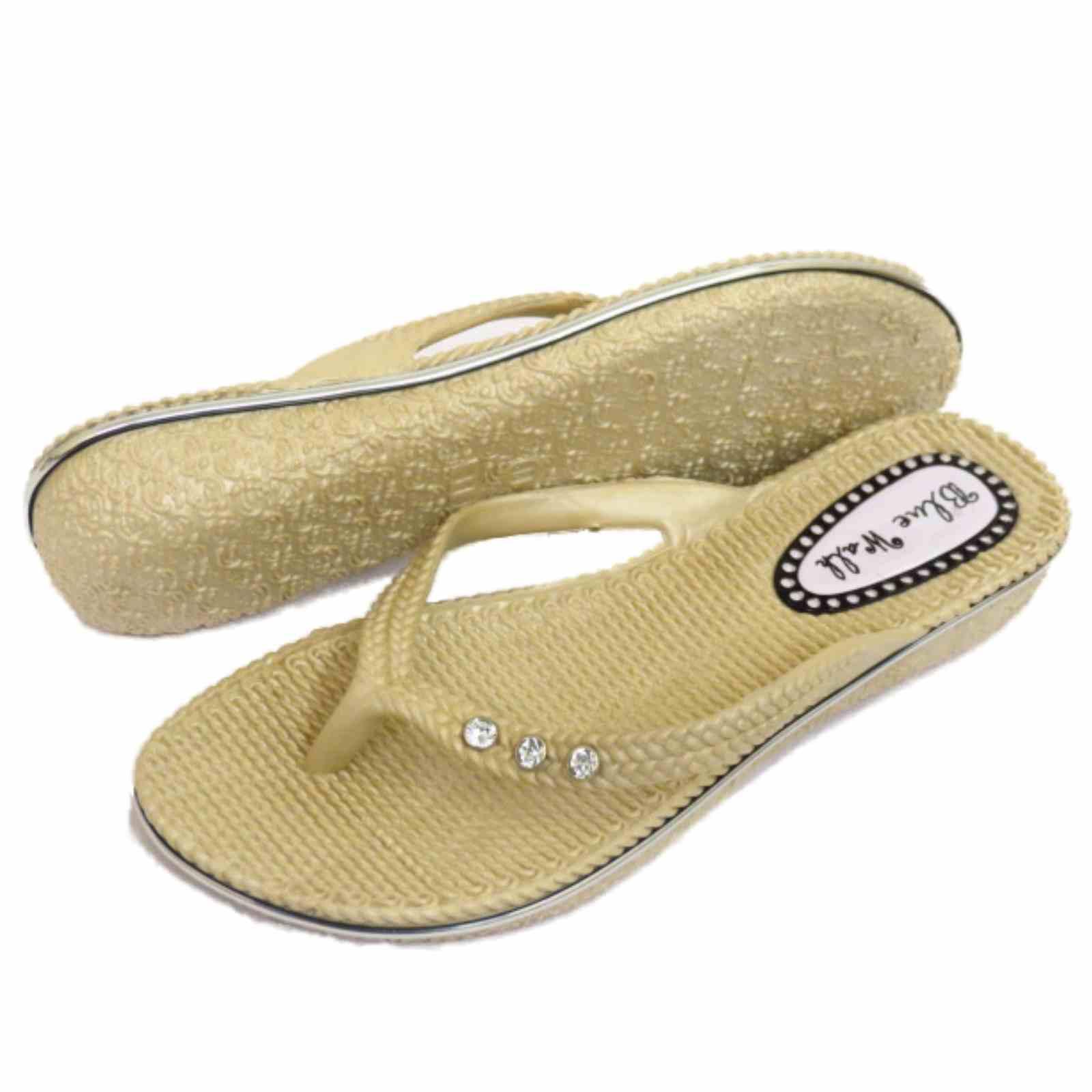 damen flach beige zehensteg sandalen flip flop strand holiday tanga sommer ebay. Black Bedroom Furniture Sets. Home Design Ideas