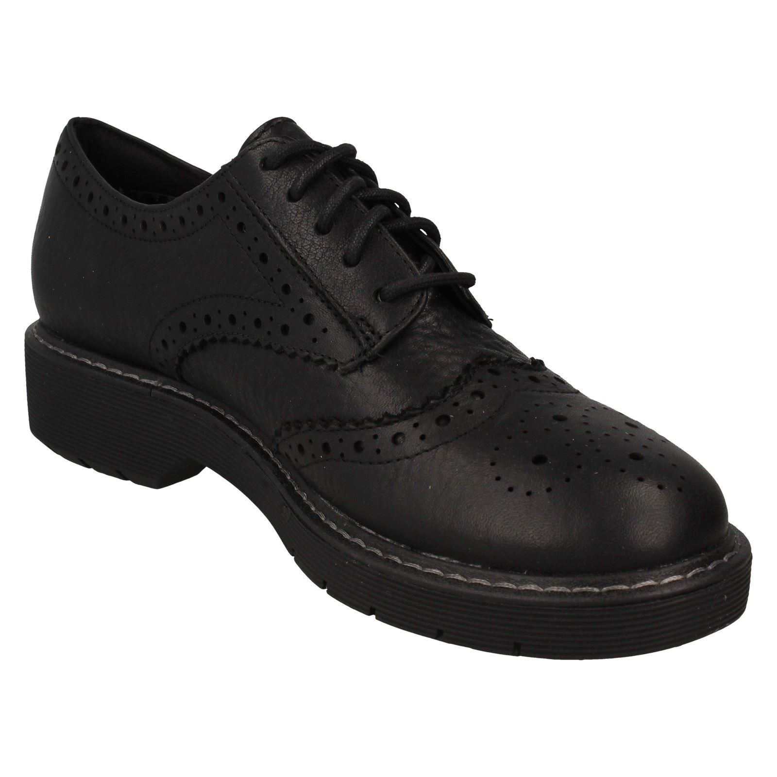 LADIES CLARKS LEATHER CASUAL WORK CHUNKY BROGUE LACE UP SHOES SIZE WITCOMBE ECHO