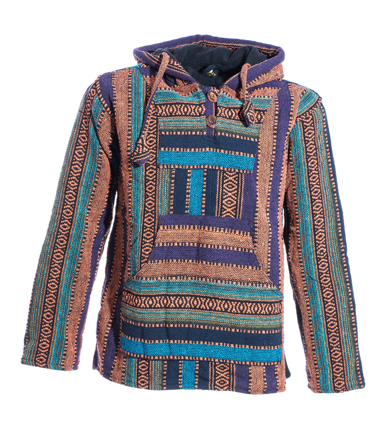 Kunst Und Magie Nepal Baja Jerga Sweatshirt Poncho Brown orange XL. About  this product. Picture 1 of 2  Picture 2 of 2 11655e1ca5
