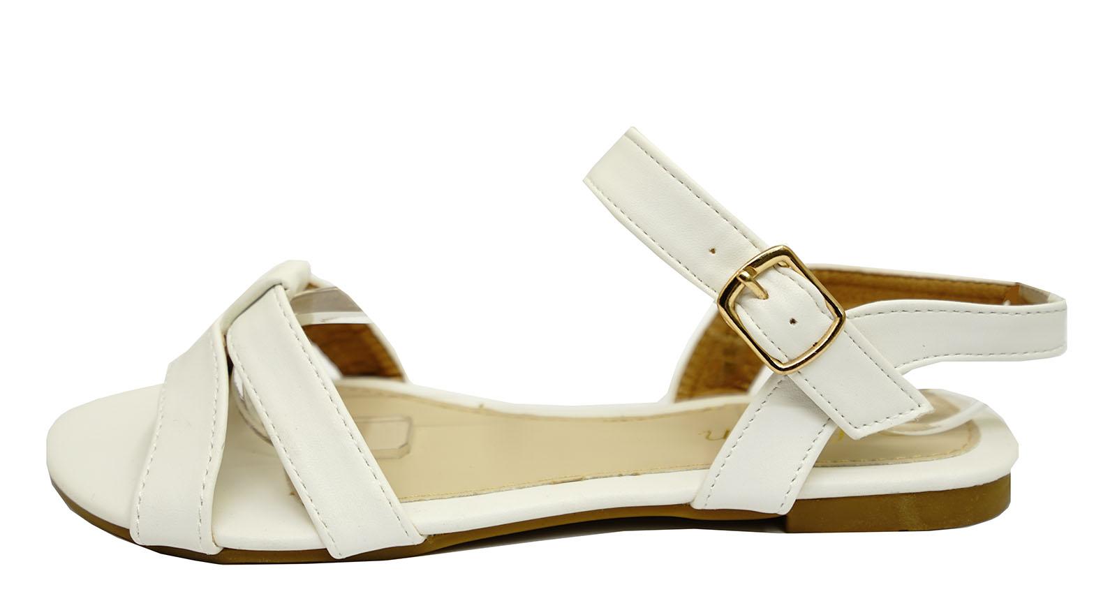 damen wei flach riemen gladiator sommer sandalen flip flop bequeme schuhe uk ebay. Black Bedroom Furniture Sets. Home Design Ideas