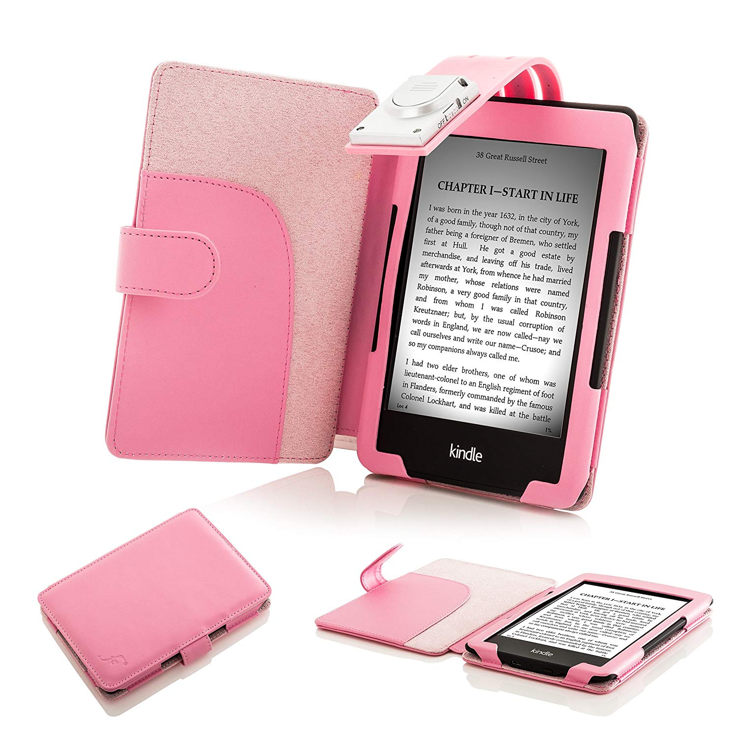 forefront cases leather smart case cover with light kindle