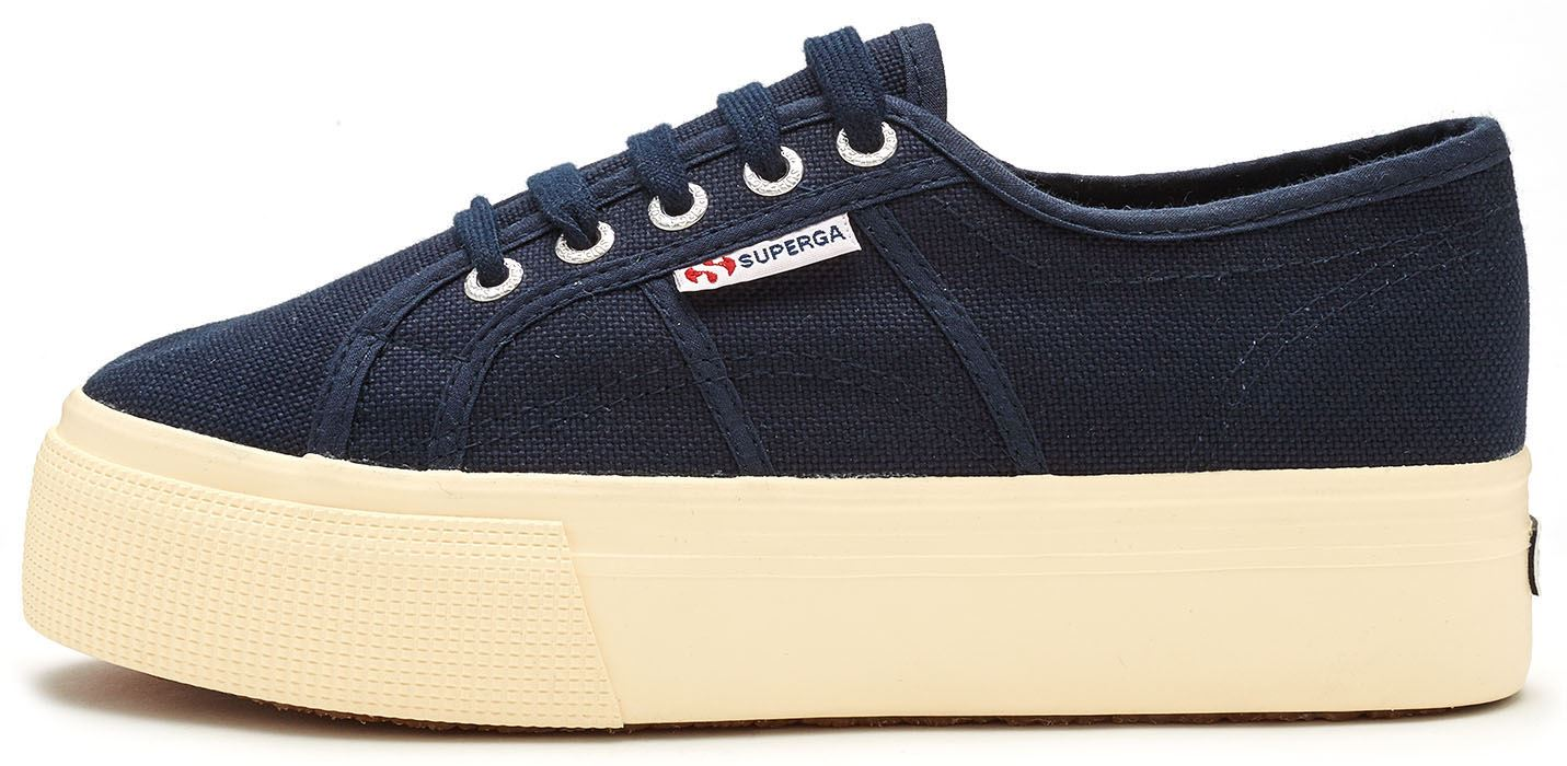 superga 2790 acotw linea up down plateau turnschuhe leinenschuhe blau wei ebay. Black Bedroom Furniture Sets. Home Design Ideas