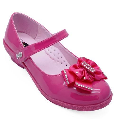 1d82cd0f783c1 Filles Enfants Rose Verni Ballerine Plate Ballerines Chaussures Tailles  12-3 2 2 sur 3 Voir Plus