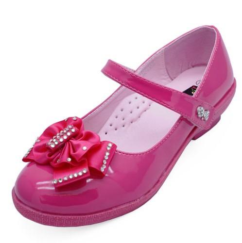 3458e5d946464 Filles Enfants Rose Verni Ballerine Plate Ballerines Chaussures Tailles 12-3