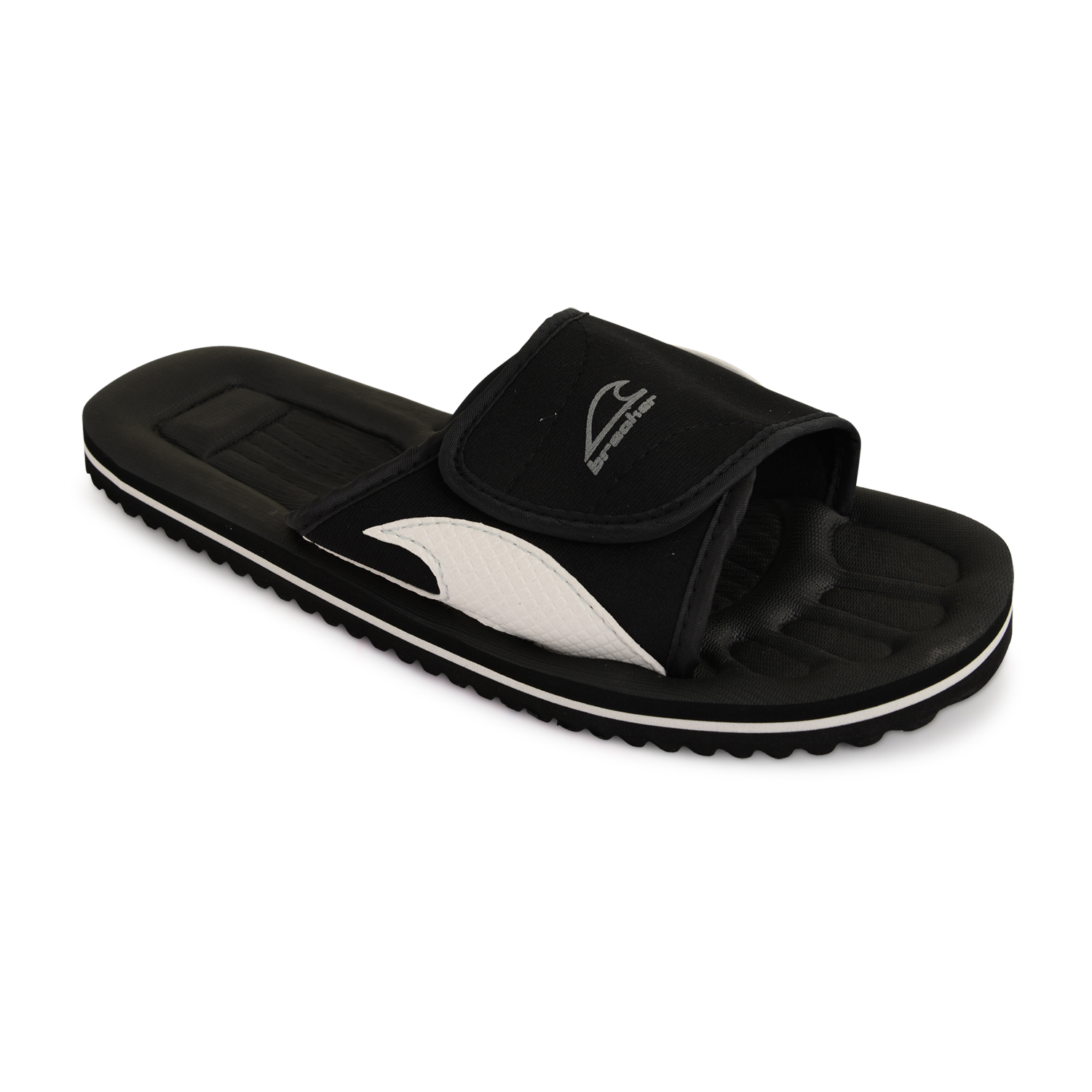 Hombre velcro chanclas sandalias para ducha piscina playa for Zapatillas piscina