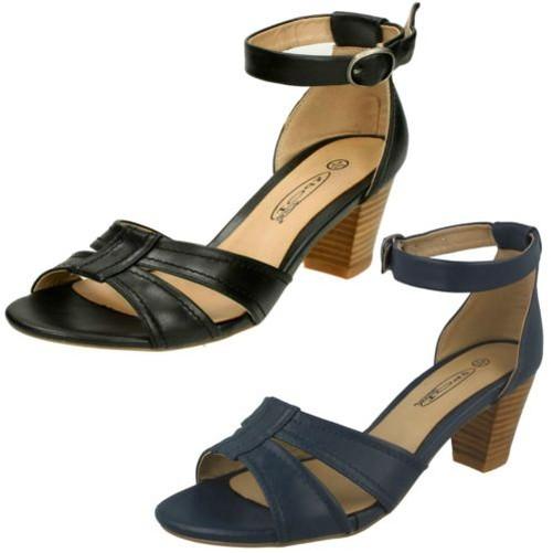 Donna Spot On CON alla TACCHI sandalo con cinturino alla CON caviglia 887cbe