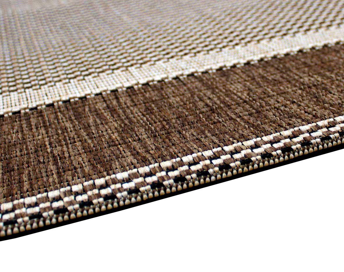 New Flatweave Border Pattern Hardwearing Indoor Outdoor