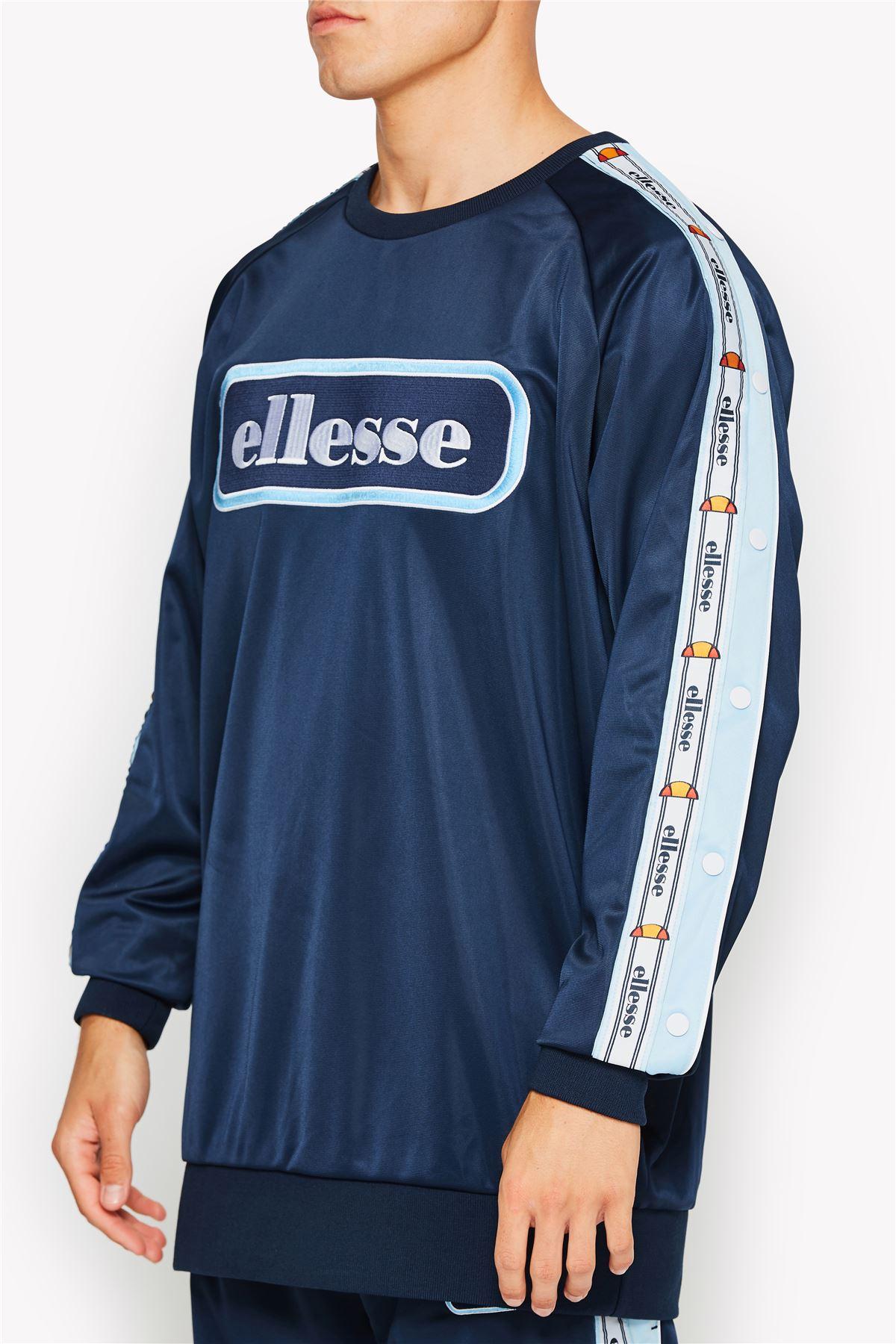 Ellesse-Trainingsanzug-Crew-Hals-Retro-Pullover-Top-amp-Trainingshose-Einzel-Dinge Indexbild 8