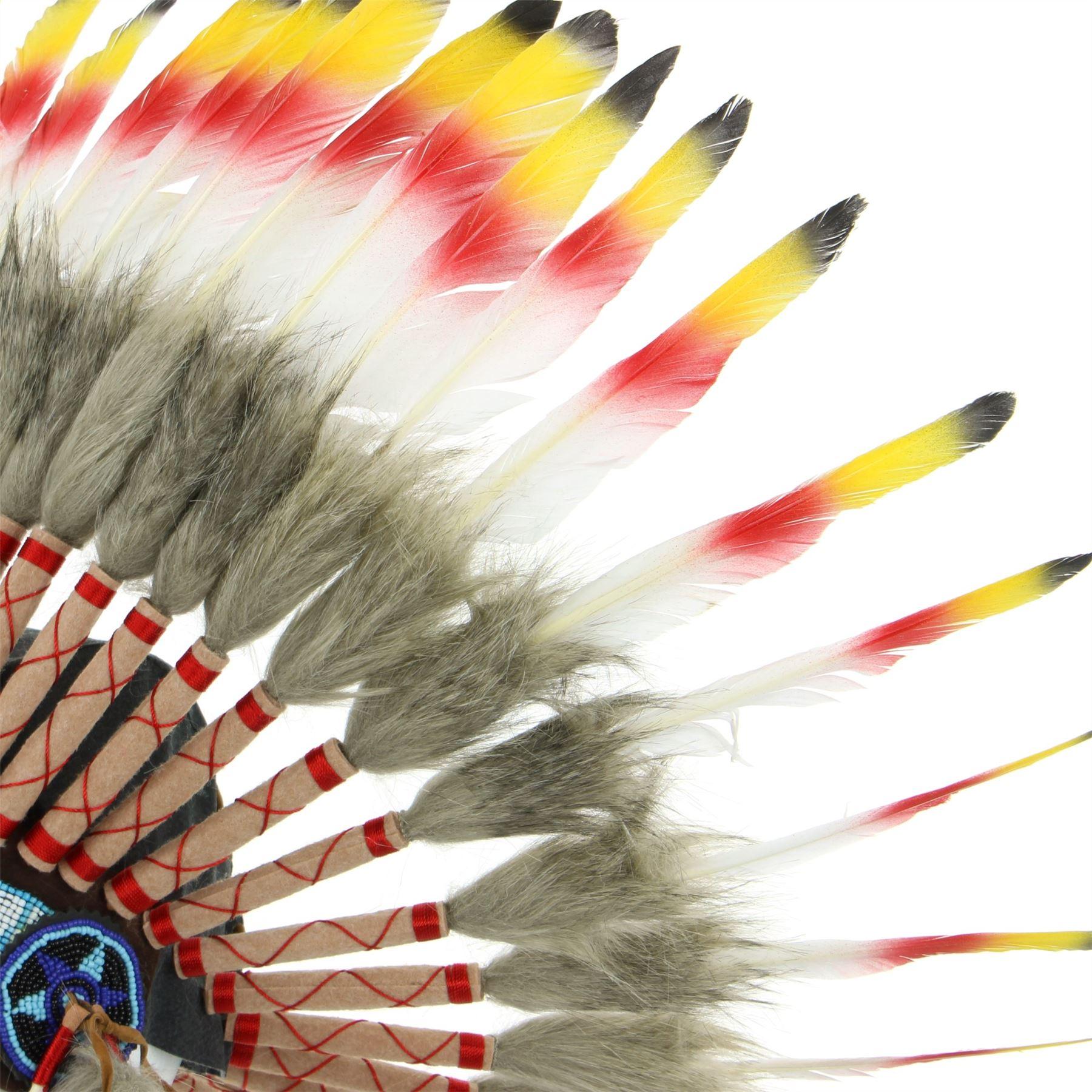 8bd8e4d446ea2 Penacho indio jefe plumas sombrero nativo americano Gringo rojo negro  amarillo. Acerca de este producto. Imagen 1 de 3  Imagen 2 de 3  Imagen 3  de 3