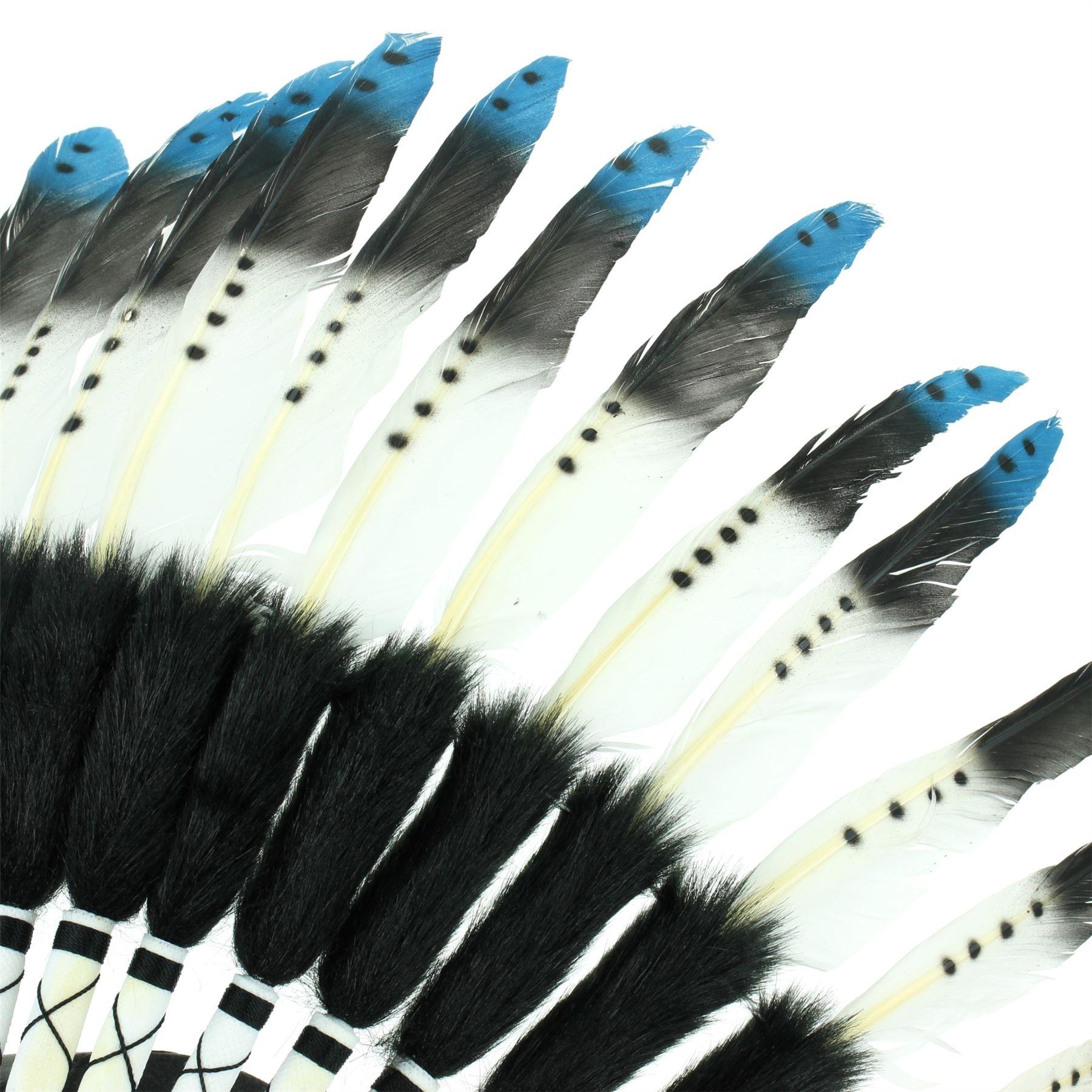 Indianischer Kopfschmuck Häuptling Federn Bonnet Indianer Gringo Leder Tipps