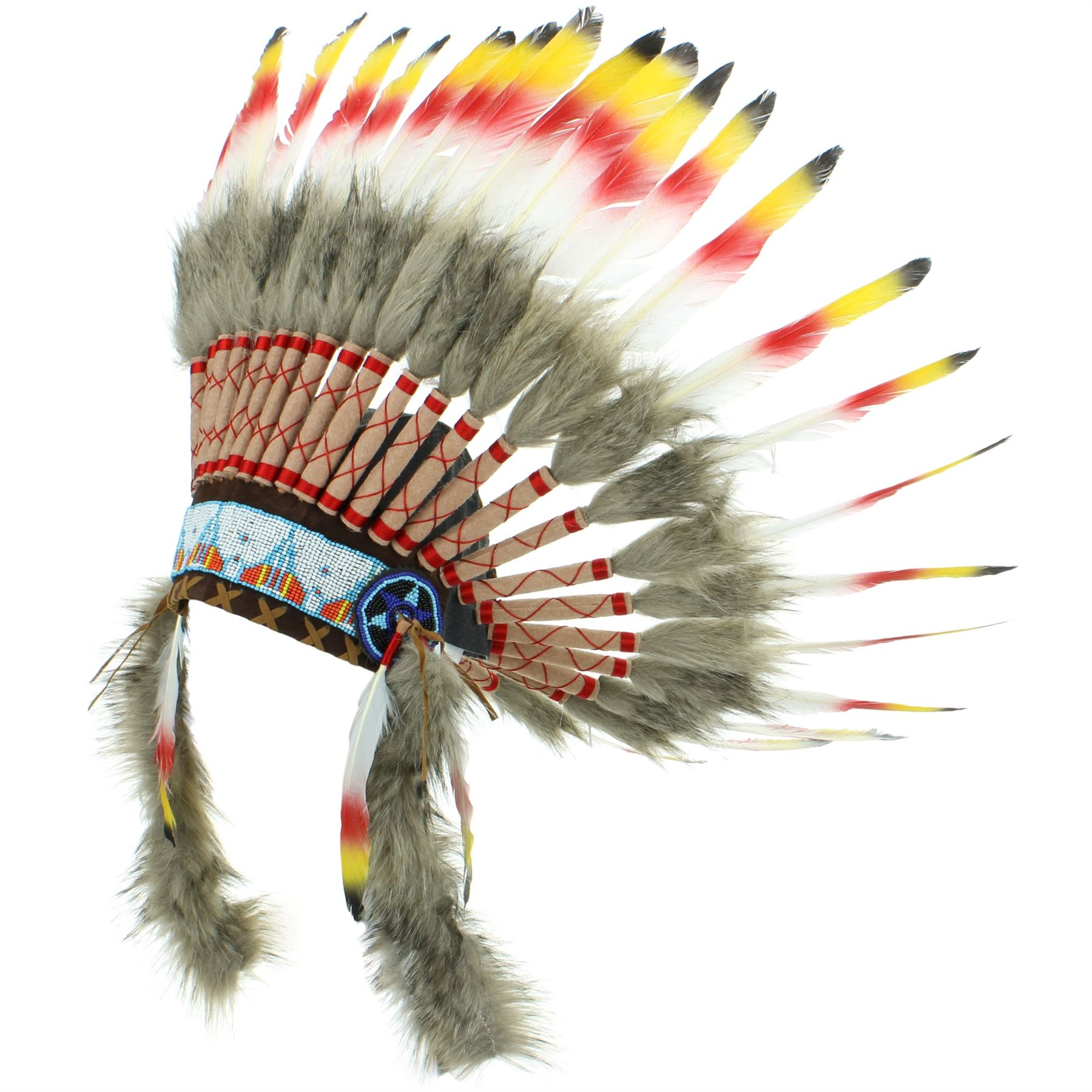 Penacho indio jefe plumas sombrero nativo americano Gringo rojo ...