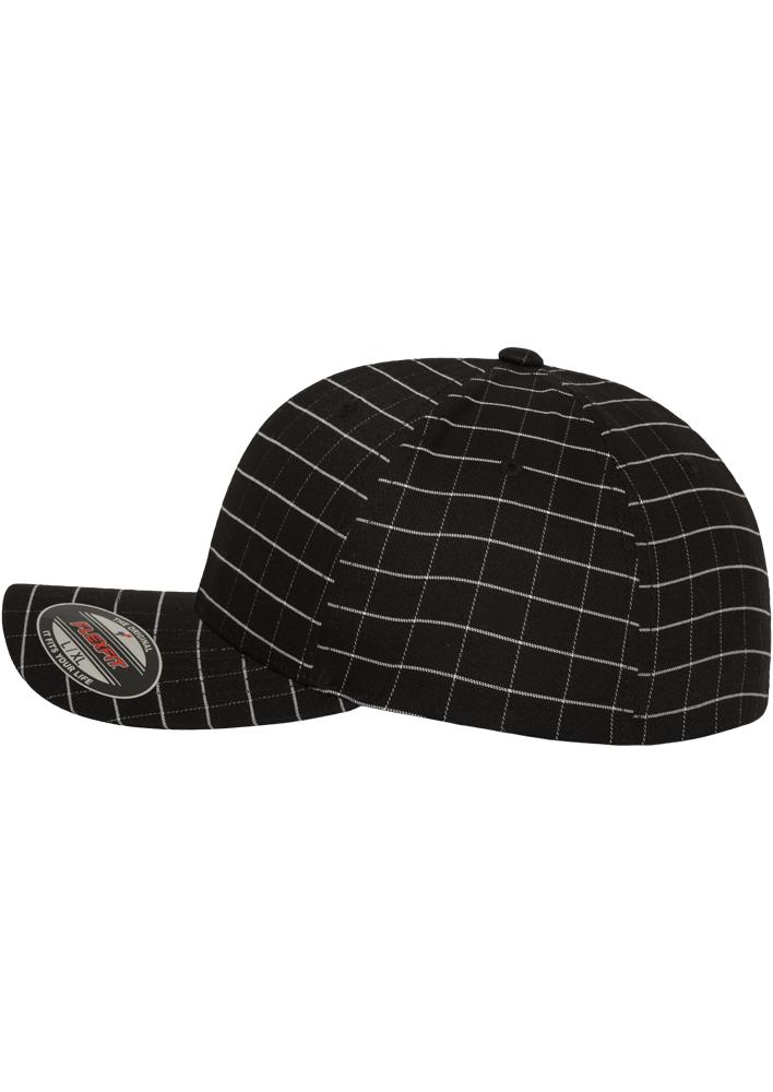 Flexfit-Piazza-a-Quadri-Cappello-Yupoong-Baseball-Squareline-Berretto-Fullcap-da miniatura 6