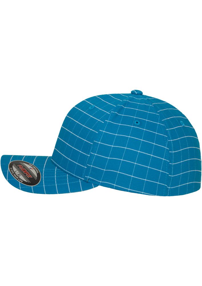 Flexfit-Piazza-a-Quadri-Cappello-Yupoong-Baseball-Squareline-Berretto-Fullcap-da miniatura 13