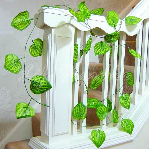 k nstliches seiden blatt efeu traube wein pflanze blumen hochzeit heim dekor ebay. Black Bedroom Furniture Sets. Home Design Ideas