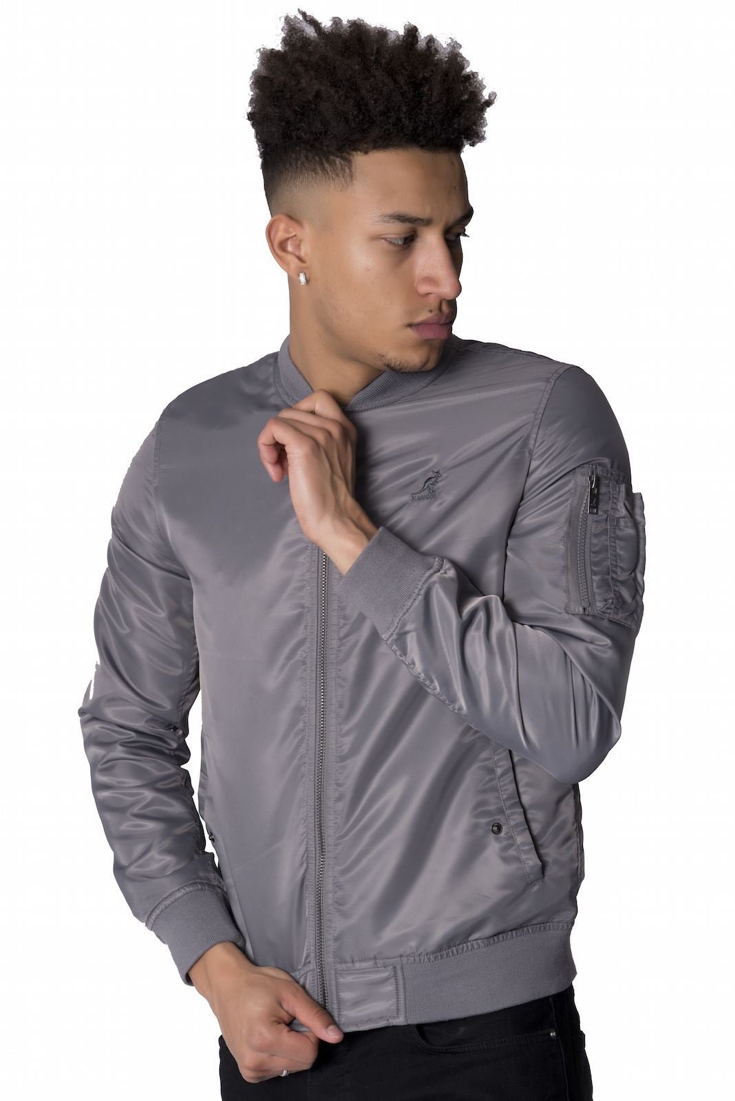 Mens khaki jacket casual - Kangol Designer Mens Ma1 Bomber Jacket Casual Zip