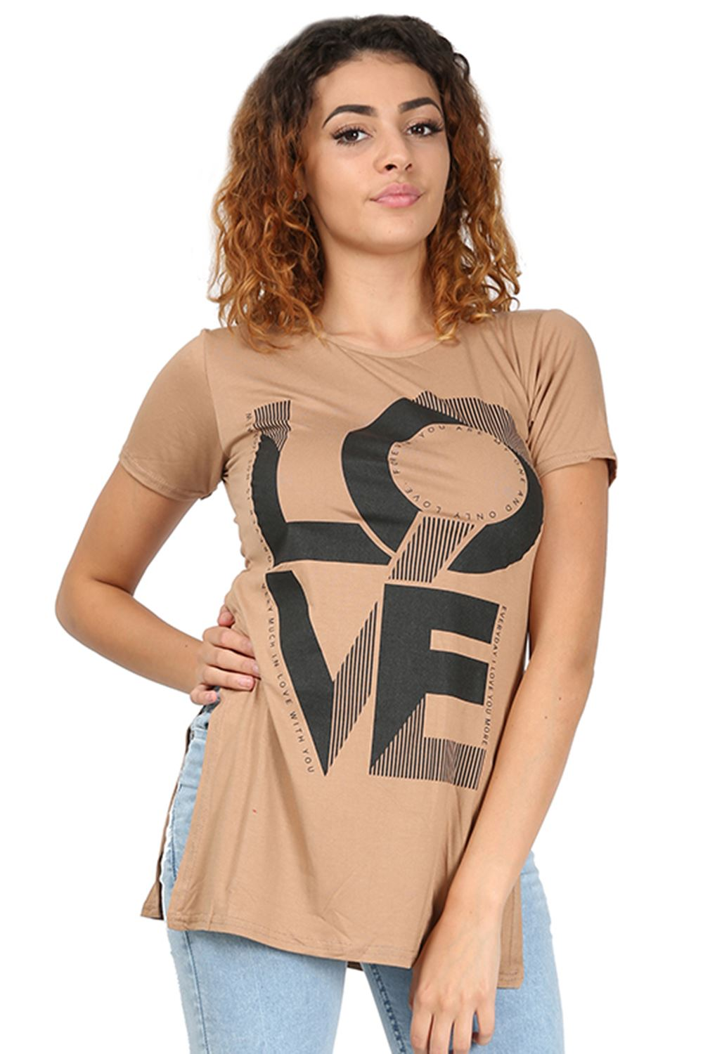 5d0ba70a281 White T Shirt With Side Slits