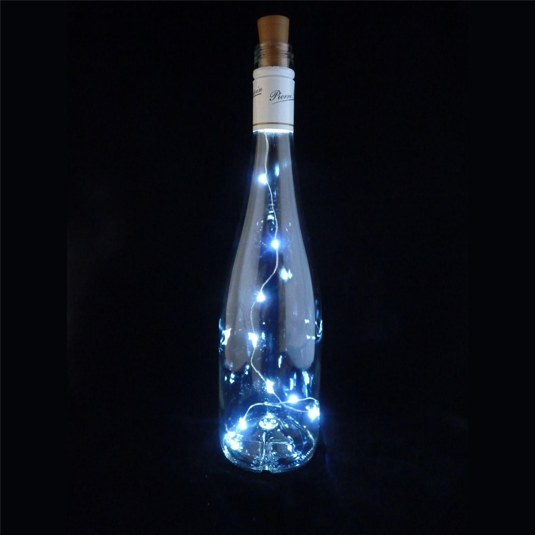 led kork mit 10 lichter auf an einer schnur flaschenkorken lampe licht hochzeit ebay. Black Bedroom Furniture Sets. Home Design Ideas