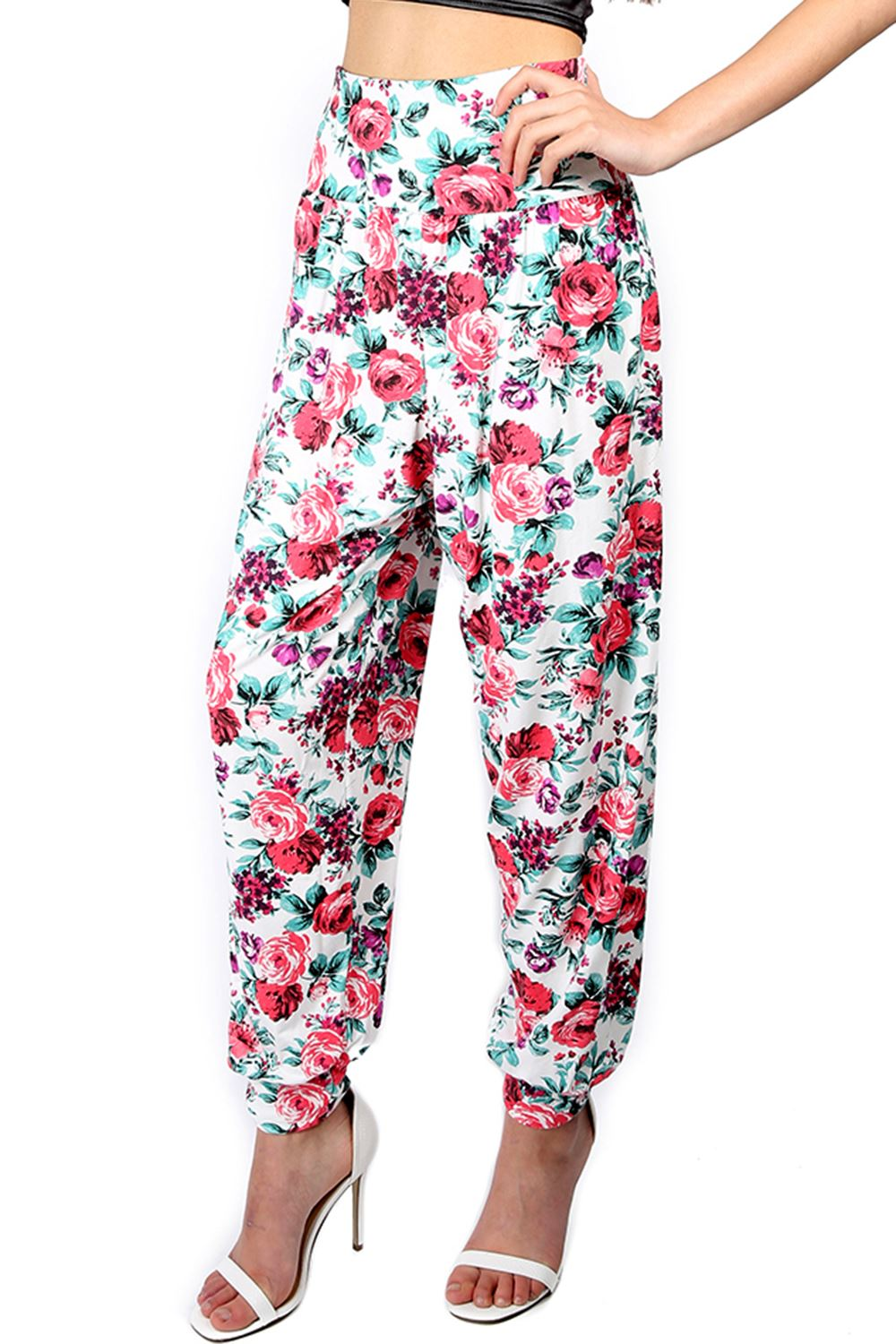 Simple Womens Ladies Harem Pants Printed Ali Baba Bottoms Trousers Leggings Plus Sizes