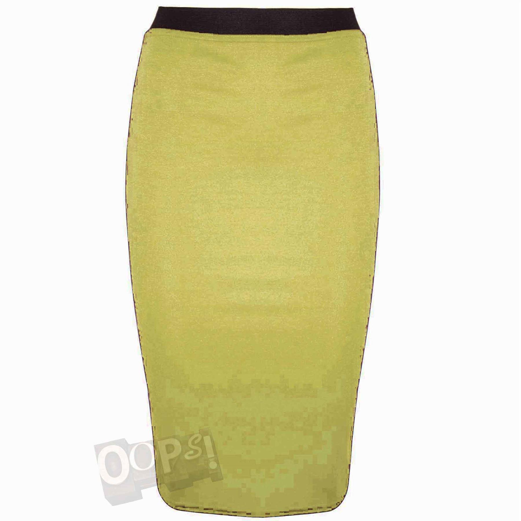bodycon pencil skirt womens smart calf