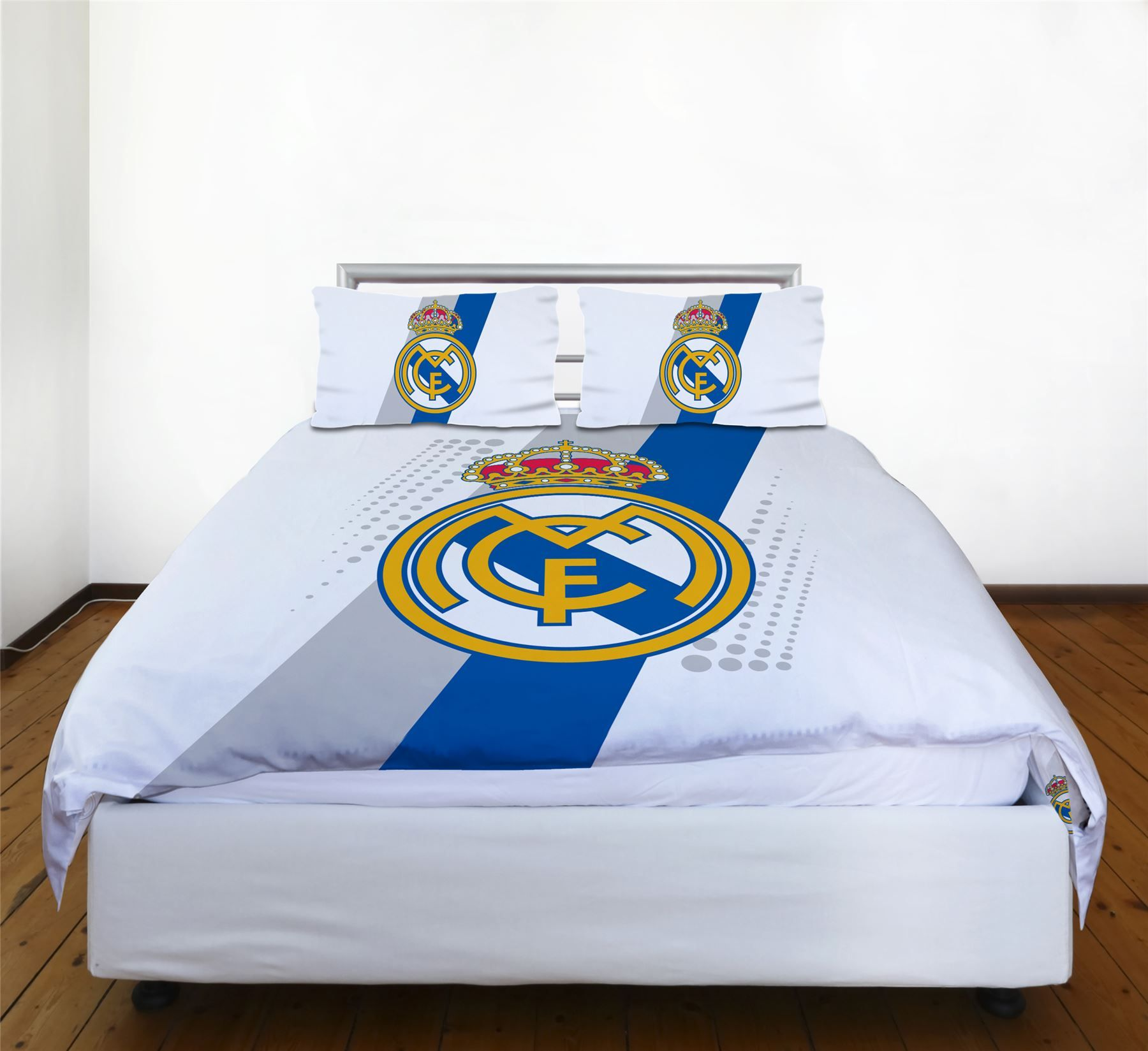 Real madrid literie accessoires football housse couette for Housse couette football