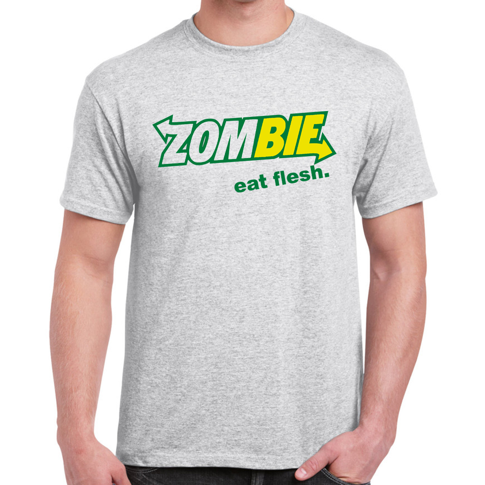 Herren lustige spruche slogans neuheit t shirts zombie for Sprüche t shirts