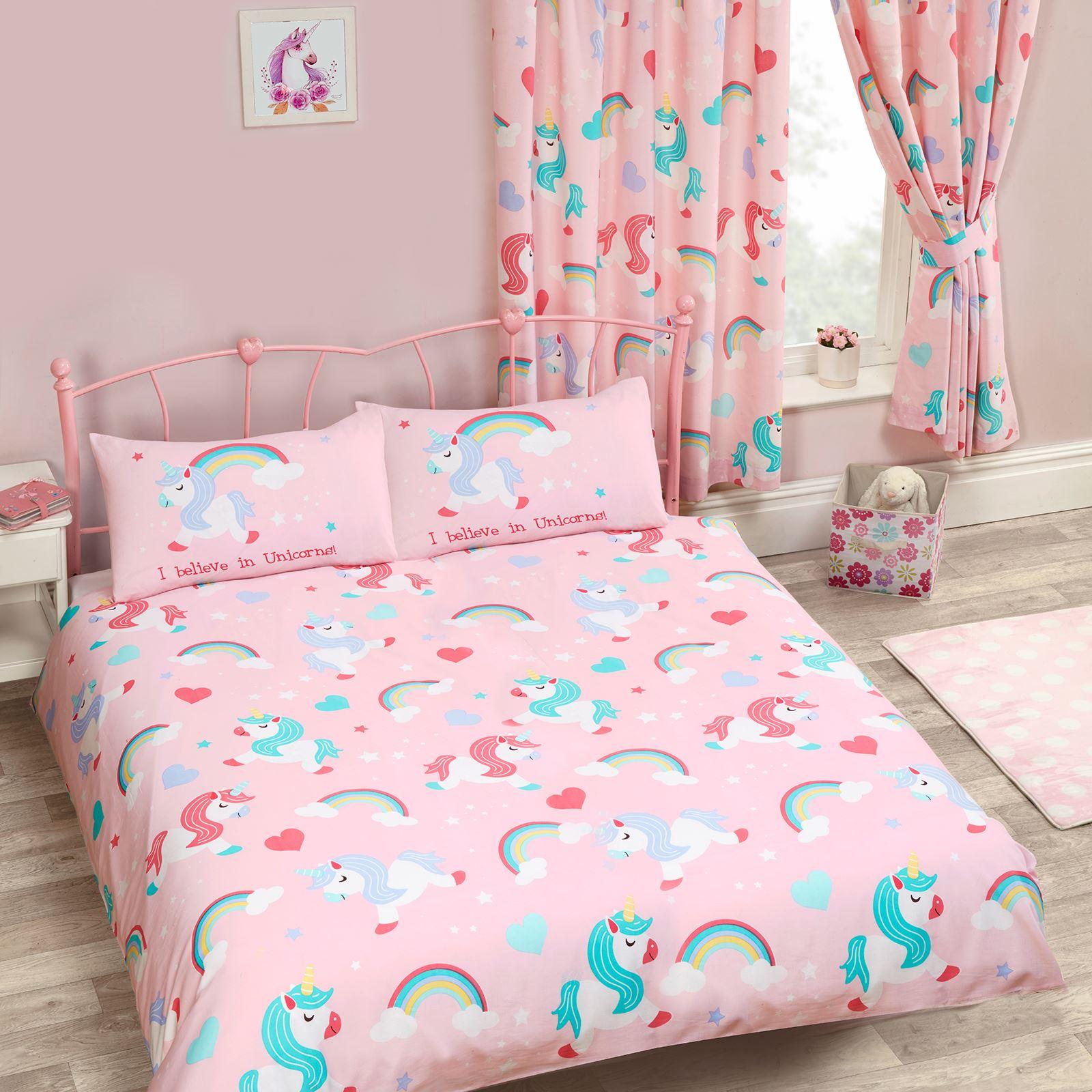 Unicornio edred n juego de ni os ni as ropa cama junior - Doble cama para ninos ...