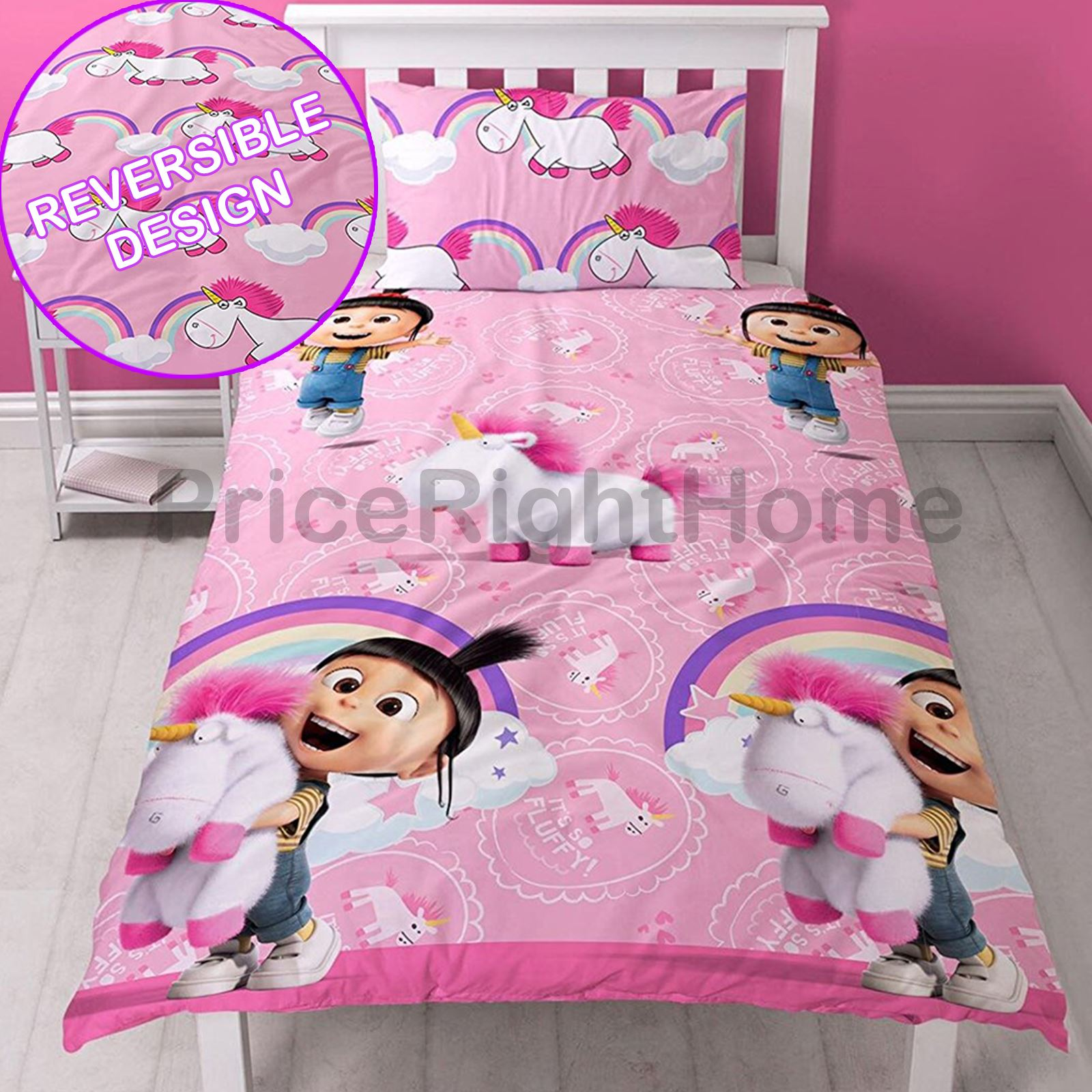 einhorn decke bez ge kinder m dchen bettw sche junior einzeln doppel king ebay. Black Bedroom Furniture Sets. Home Design Ideas