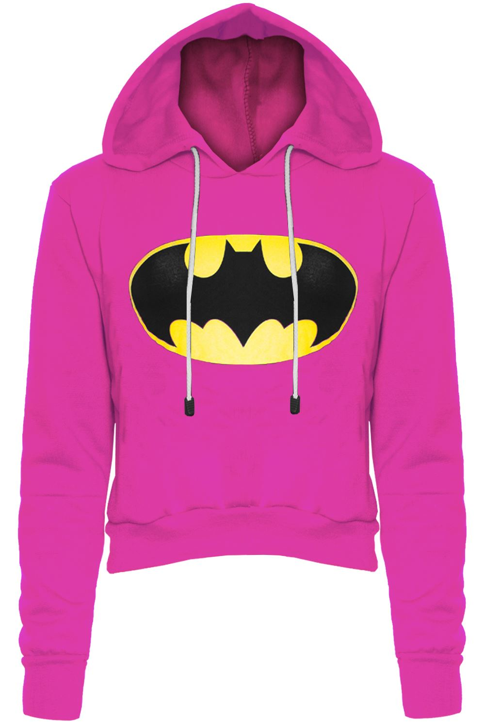 damen batman strickpullover pulli damen kurzes top mit langen rmeln fleece ebay. Black Bedroom Furniture Sets. Home Design Ideas
