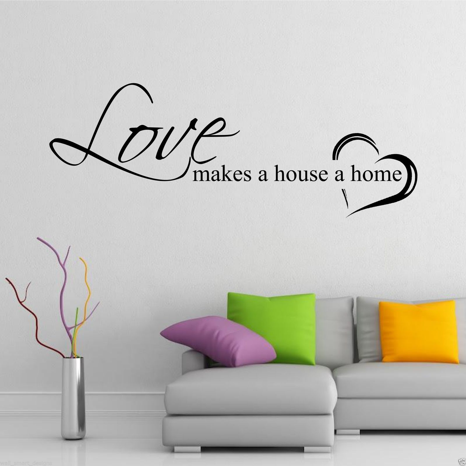 Love Wall Quotes: Home Love Family Wall Art Sticker Quote Decal Mural