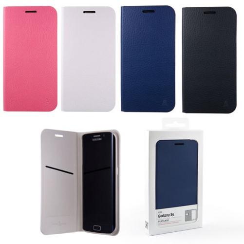 Anymode Funda Libro para Samsung Galaxy S6 G920 Blanco Azul Negro Rosa