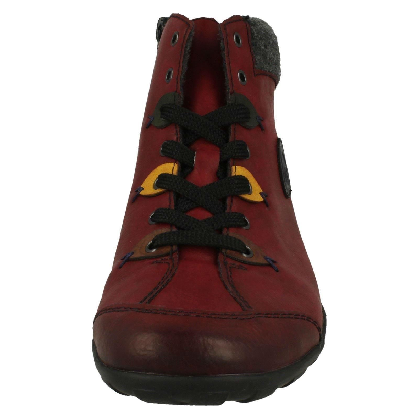 Ladies Rieker Casual Lace Up Detailed Ankle Boots L6513