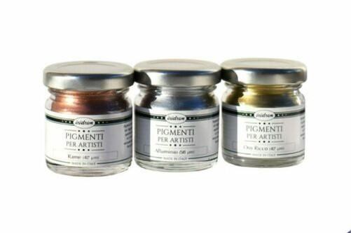 Pigment-Metallic-Irimetal-von-Erhoben-Brilliance-Alu-Rich-Gold-Kupfer miniature 6