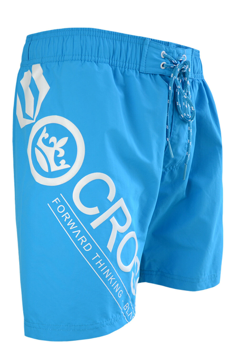 Crosshatch-Mens-Pacific-Blue-Swim-Shorts-Poolside-Mesh-Lined-Swimming-Trunks thumbnail 3