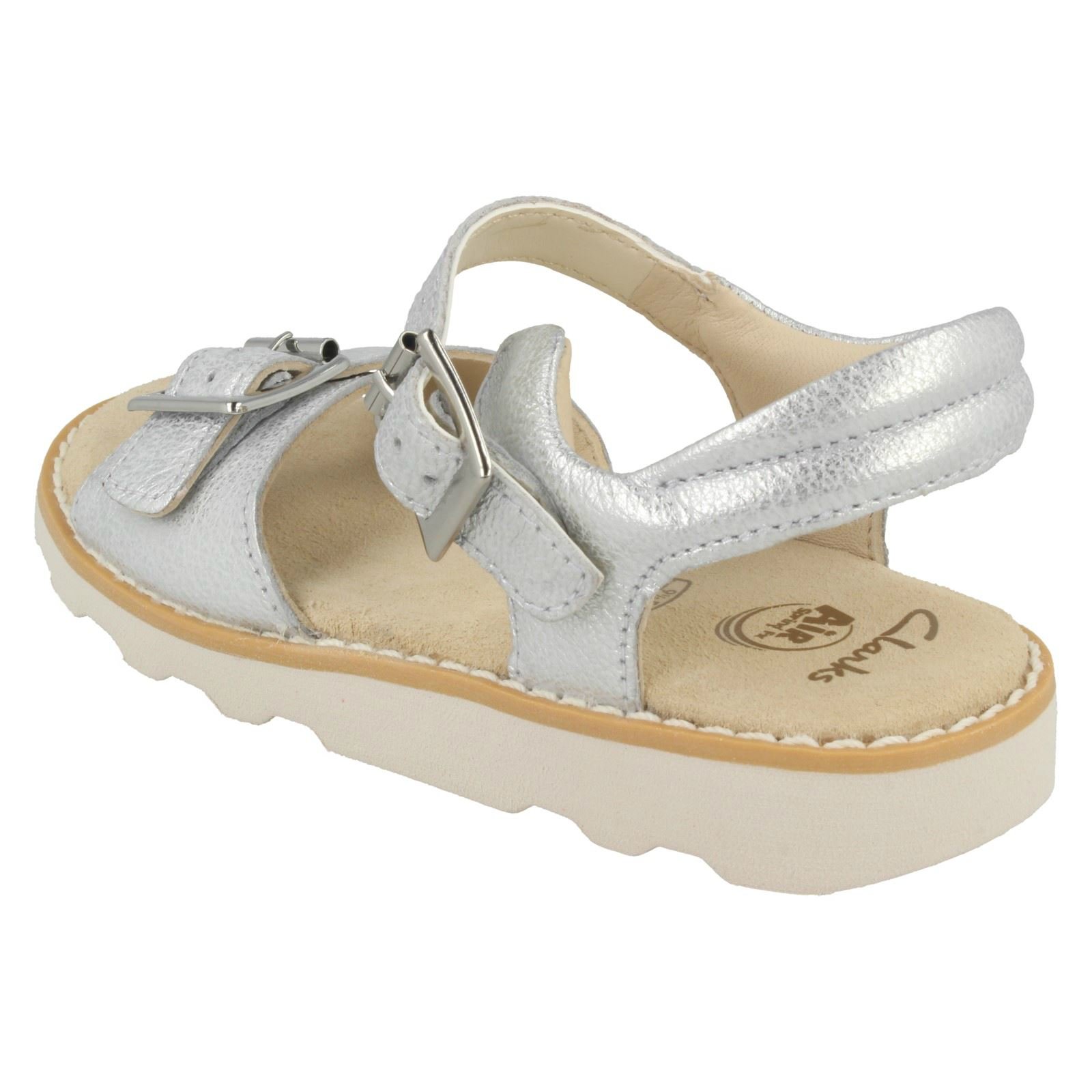 Clarks Girls Casual Strapped Sandals Crown Bloom